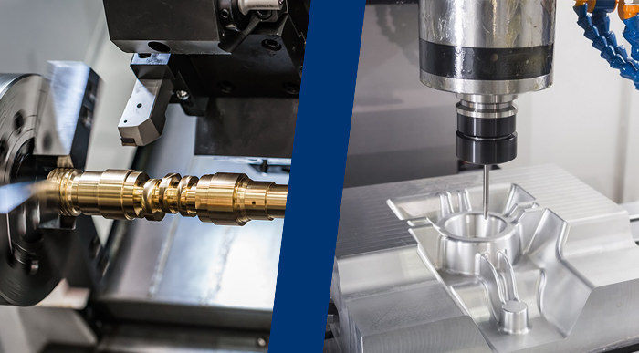 CNC Turning vs CNC milling