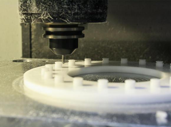 Machining polyethylene parts with custom designs