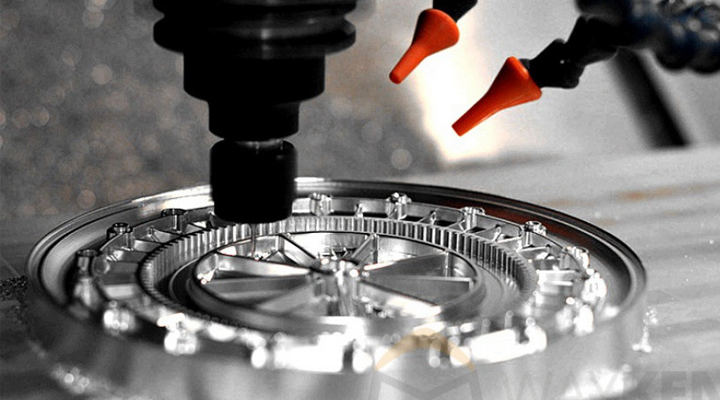 What are the most common manufacturing processes for machined parts