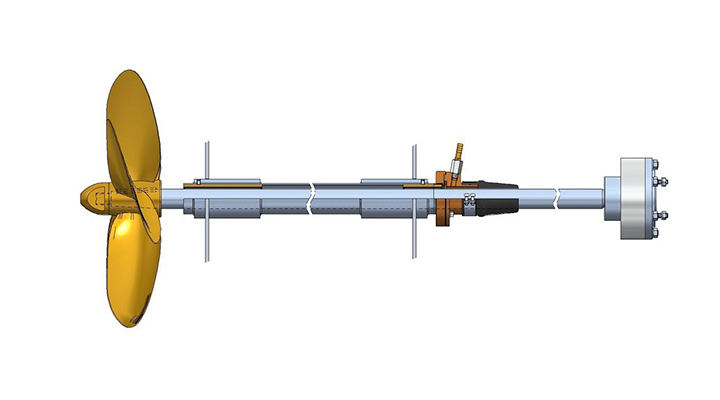 What is a marine propeller shaft