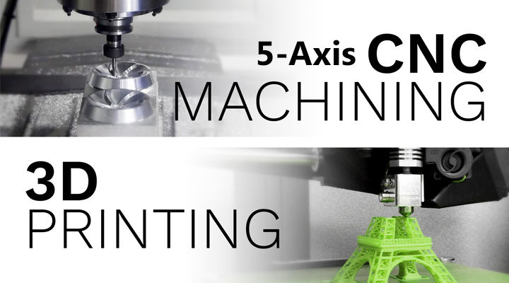 What is the Difference Between 5-Axis CNC Machining and 3D Printing