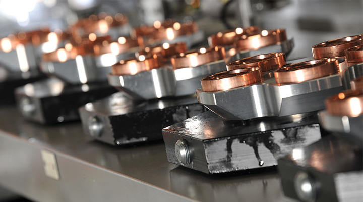 Which surface treatment is used for CNC milling copper